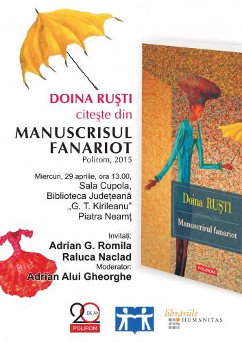 Afis 04_29_2015 Lansare carte Doina Rusti